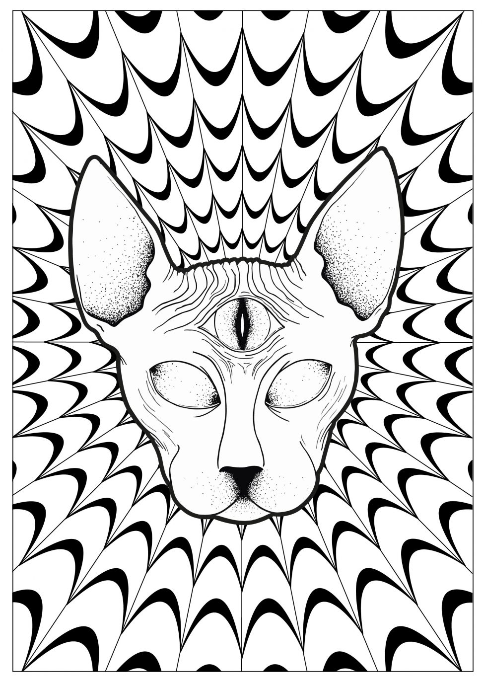 raskraski-antistress-cat-psychedelic-sphynx-by-louise